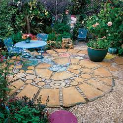 square and patio garden design pictures photos and