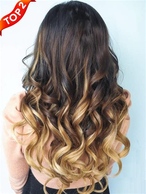 ombre extensions two colors ombre clip in hair extensions m053027h27 m053027h27 vpfashion