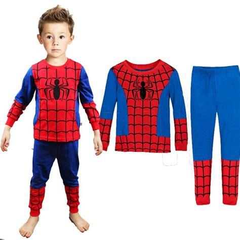 Set Polo Spider Kid new spider pajamas sets baby clothing set boys pyjamas cotton printed children