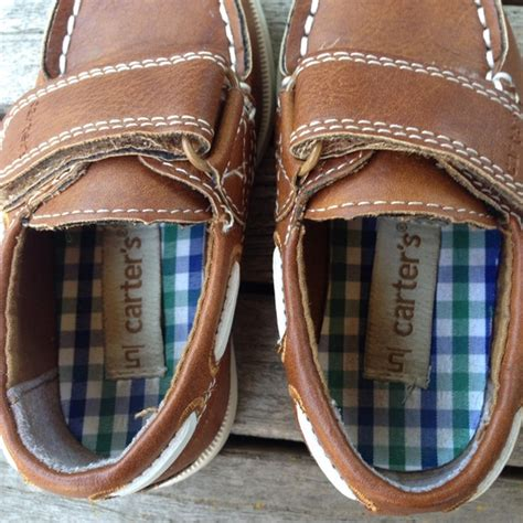 carter s boat shoes carter s carters toddler boys brown boat shoes from