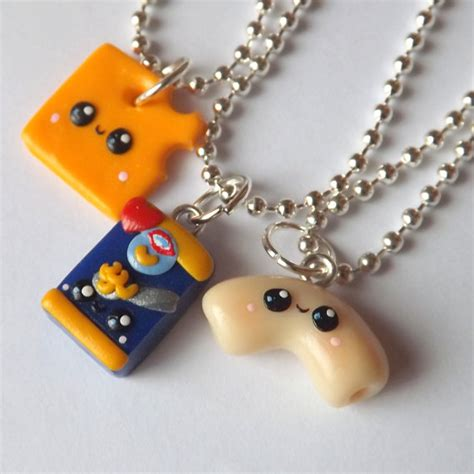 items similar to mac and cheese best friends necklaces