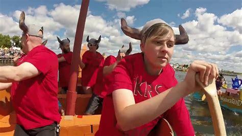 viking cardboard boat race cardboard boat race vikings orillia youtube