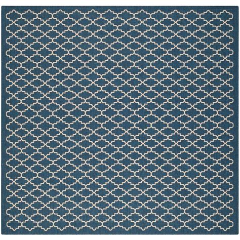Square Outdoor Rug Safavieh Courtyard Navy Beige 4 Ft X 4 Ft Indoor Outdoor Square Area Rug Cy6919 268 4sq The