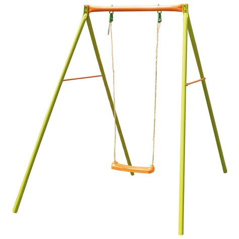 backyard swings for kids garden swing set outdoor kids single swing childrens orange and green ebay