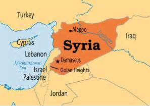 Syria On Map syria operation world