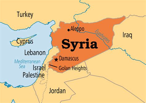 where is syria on the map syria operation world