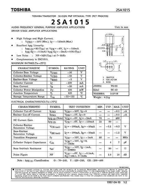 general purpose pnp transistor list buy 2sa1015 pnp general purpose transistor robomart india
