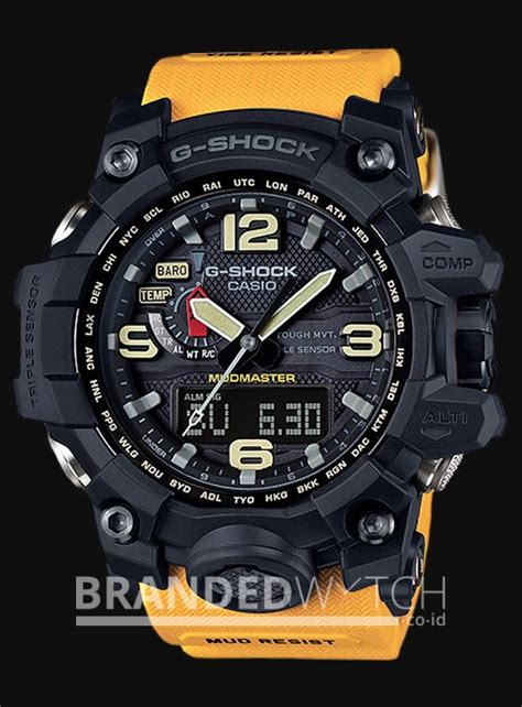 Jam Tangan Cowok Keren G Shock Gwg1000 Black Dual Time casio g shock gwg 1000 1a9dr mudmaster orange black brandedwatch co id