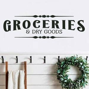 groceries  dry goods pantry rustic farmhouse home wall