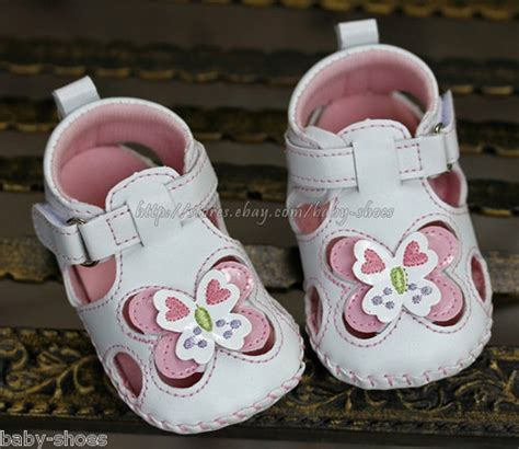 6 Month Dress Shoes by Baby Infant White Butterfly Sandals Dress Crib Shoes Size 6 9 9 12 Months Baby