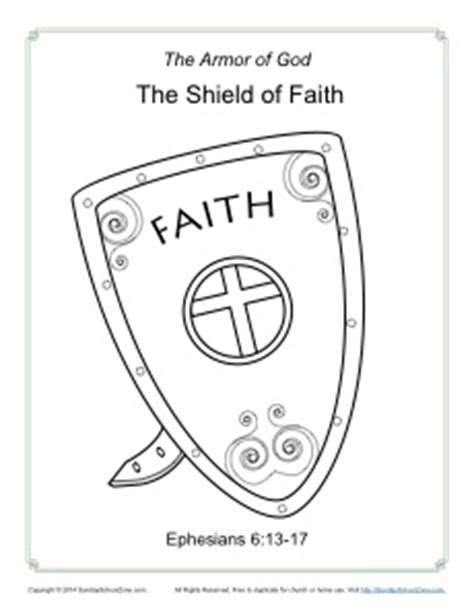Shield Of Faith Coloring Page Armor Of God For Kids Shield Of Faith Coloring Page