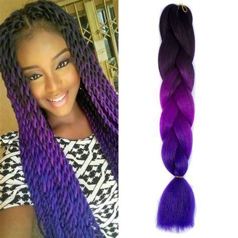 black braiding hair ebay 1pcs black purple blue 24 quot hair pieces braiding hair