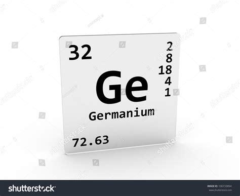Germanium Periodic Table by Germanium Symbol Ge Element Periodic Table Stock