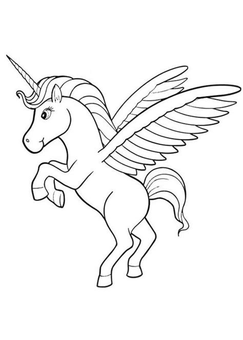 14 winged unicorn coloring pages fantasy printable