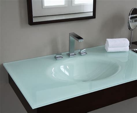 Recycled Glass Vanity Top by
