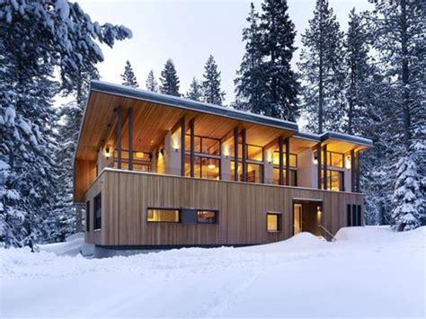 metal glass  wood homes  snow modern house designs