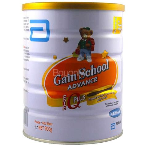 Similac 3 Gain Plus Vanila 850gr gain school advance iq plus preschool age milk drink 900g