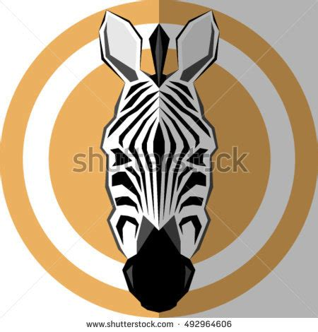 geometric zebra tattoo lion ornament style tattoo on paper stock vector 566690362