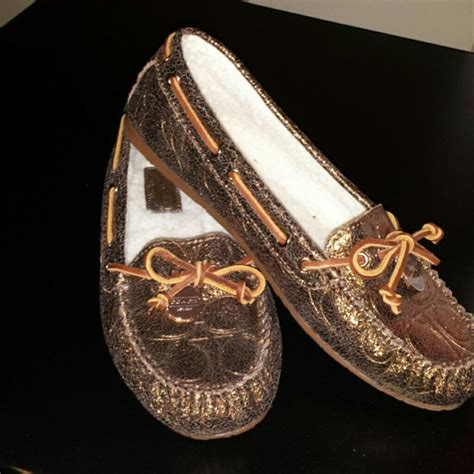 coach slipper 33 coach shoes new coach bronze slippers from terra