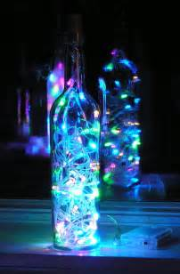 multi colored lights clear wine bottle light with multi colored pastel led lights