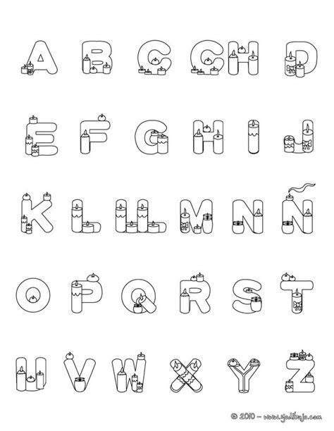 imagenes para colorear letras dibujos para colorear letras velas es hellokids com