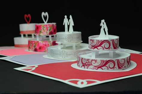 Wedding Pop Up Cards Templates Free by Birthday Or Wedding Cake Pop Up Card Template