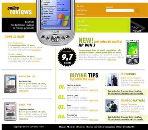 Review Site Template Free Review Website Template Free