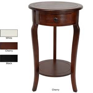 26 inch hand crafted oriental round wood accent end table china