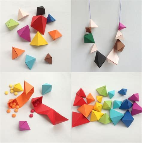 How To Make Origami Geometric Shapes - simple origami origami and simple origami tutorial on