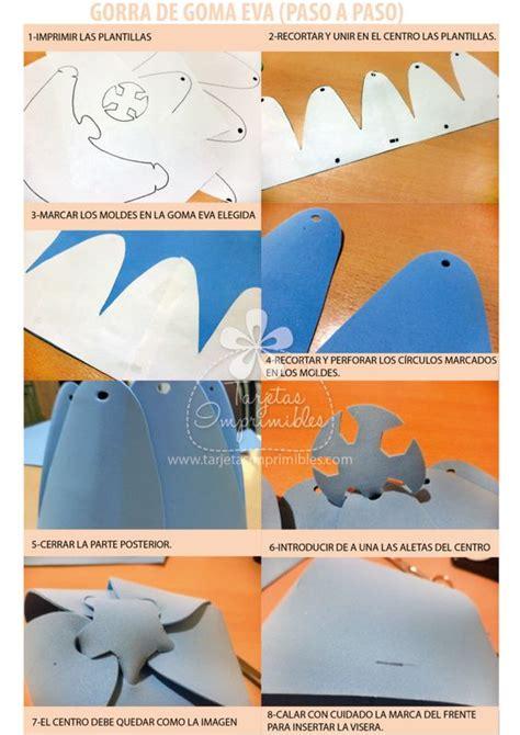 como hacer gorras de fomix del cars sombreros o gorras de goma eva paso a paso y moldes 1