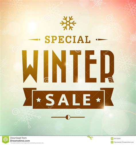 typography sles winter special sale vintage typography poster stock image image 36722091