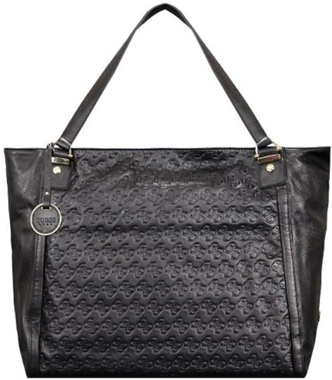 Guess Sprint Black Leather guess luxe 4g logo my g s leather tote bag black bags products