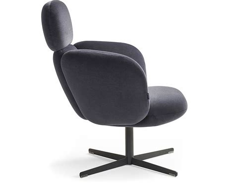 Bras Highback Swivel Base Lounge Chair Hivemodern Com Club Chairs Swivel