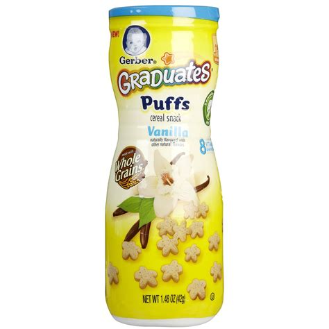 Gerber Puffs Vanilla by Gerber S Puffs Vanilla Food Feeding