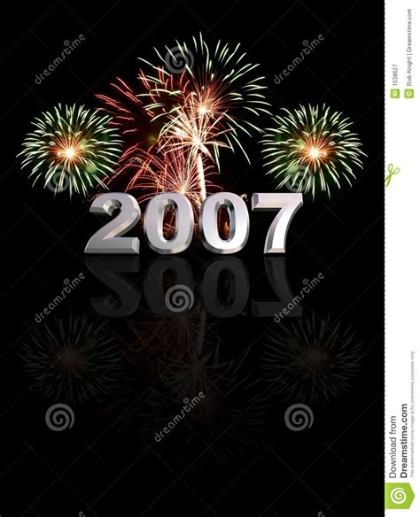 2007 Year Of The New by New Year 2007 Royalty Free Stock Photography Image 1538627