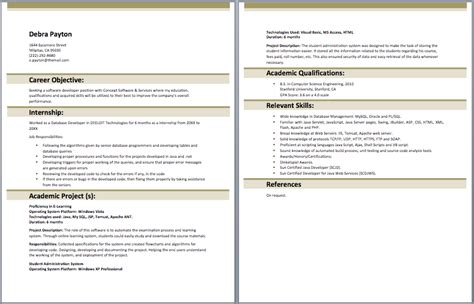 resume format java developer
