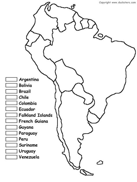america map fill in 25 best ideas about south america map on