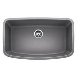 gray kitchen sink shop blanco valea 19 in x 32 in metallic gray single basin