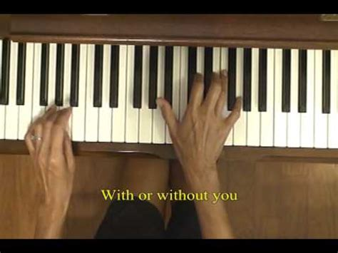 tutorial piano u2 u2 with or without you piano tutorial 1 youtube