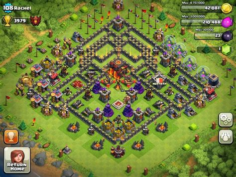 clash of clans layout strategy level 4 clash of clans town hall 10 layout clash of clans