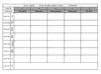 Lesson Plan Template Pre K by Pin By Mustard Seed On Home School Websites And