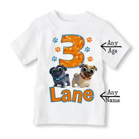 puppy pals clothes puppy pals shirt personalized with name and age puppy