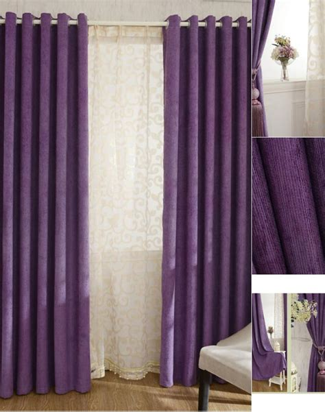 Thick Chenille Fabric Romantic Purple Blackout And