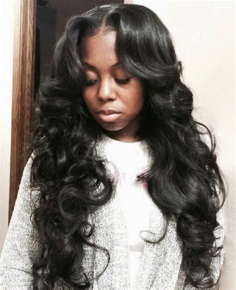 Middle Part Weave Hairstyles by Weave Hairstyles With Middle Part Www Pixshark