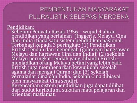 Dasar2 Statistika pluraliti masyarakat pluralistik di malaysia