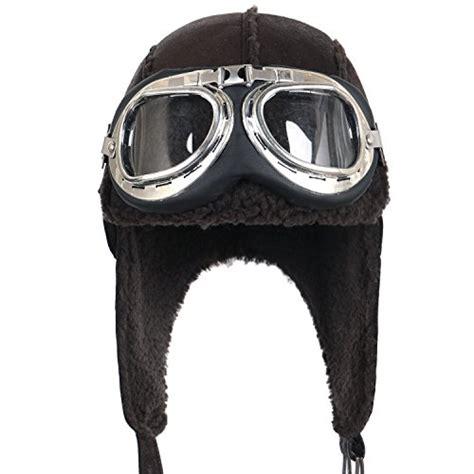 Winter Pilot Hat ililily aviator hat winter snowboard fur trim ear flaps