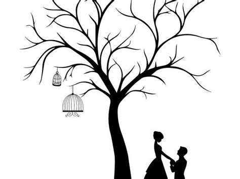 guestbook tree template wedding tree template wedding guestbook canvas wedding