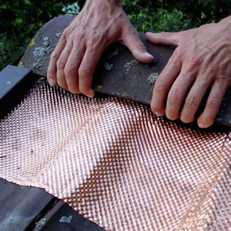 kupfer gegen moos dach schutz 5 meter strukturiertes kupferband ean