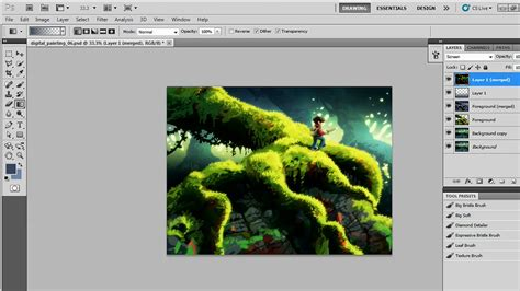 watercolor tutorial photoshop cs5 creating a digital painting with photoshop cs5