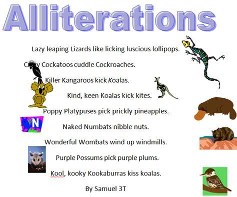 australian animals alliteration poems 187 samuel art class